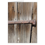 Old Weathered Wood and Rusty Metal Card