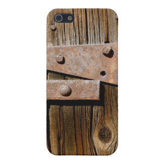 Old Weathered Wood and Rusty Metal Cover For iPhone SE/5/5s