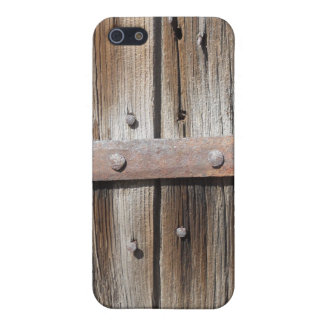 Old Weathered Wood and Rusty Metal iPhone SE/5/5s Cover