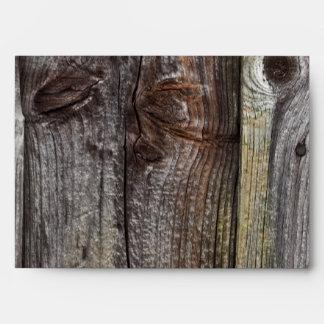 Old weathered wood envelope