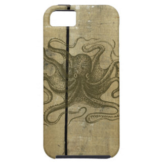 Old Weathered Wood Octopus iPhone SE/5/5s Case