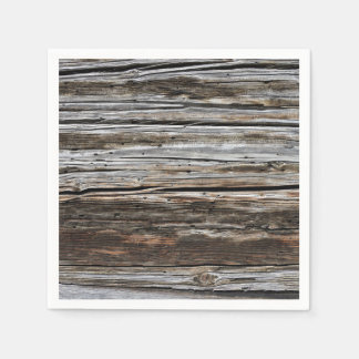 Old Weathered Wood Wall Texture Paper Napkin