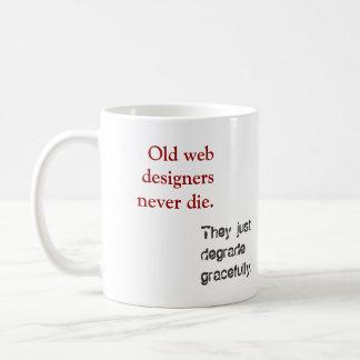 Old Web Designers... Classic White Coffee Mug