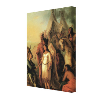Old West 1845 Trappers Bride 3D Art Wrapped Canvas