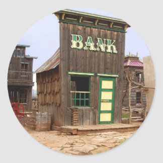Old West Bank (Color) Classic Round Sticker