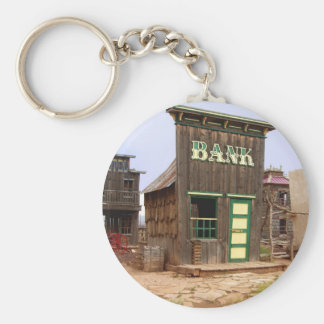 Old West Bank color keychain Key Chain