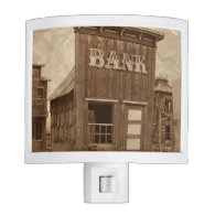 Old West Bank Night Lights