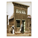 Old West Bank Robbery Greeting Card
