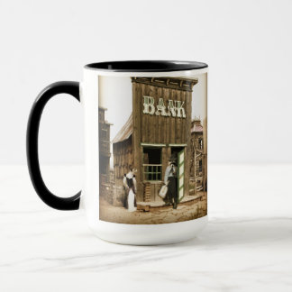 Old West Bank Robbery Mug