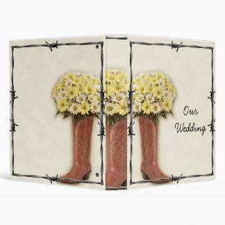 Old West Boot Bouquet 1 Wedding Album Binder