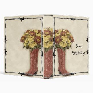 Old West Boot Bouquet 3 Wedding Album Binder