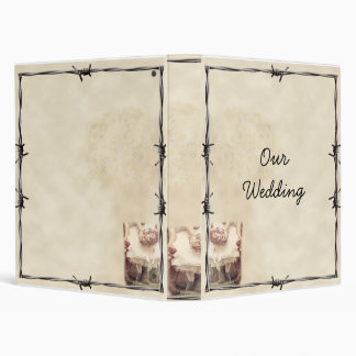 Old West Boots and Bouquets Wedding Album Binder
