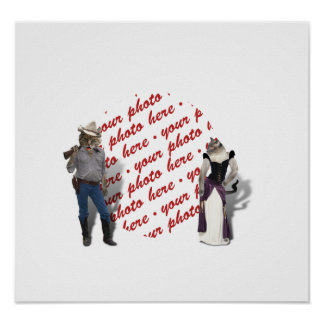 Old West Cats Photo Frame Posters