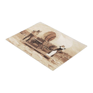 Old West Cats with Covered Wagon Doormat