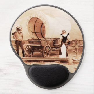 Old West Cats with Covered Wagon Gel Mouse Pad