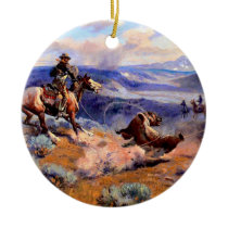 Old West Ceramic Ornament