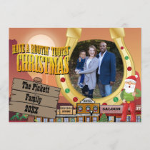 Old West Christmas Photo Card