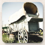 Old West Covered Wagon 01 Cork Coaster