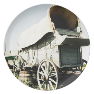 Old West Covered Wagon 01 Plate