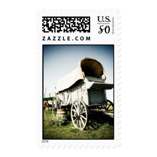 Old West Covered Wagon 01 Postage