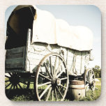 Old West Covered Wagon 02 Cork Coaster