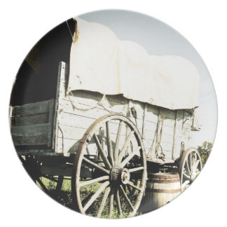 Old West Covered Wagon 02 Plate