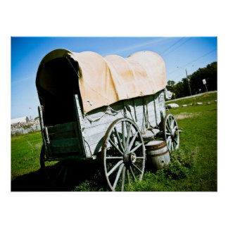Old West Covered Wagon 02 Poster