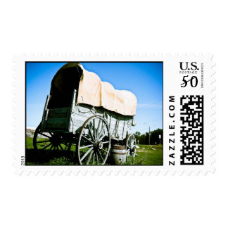 Old West Covered Wagon 03 Postage