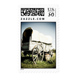 Old West Covered Wagon 04 Postage