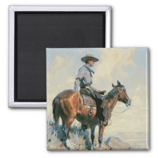 Old West Cowboy of the Plains Fridge Magnet