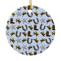 Old West Cowboy Rodeo Ceramic Ornament