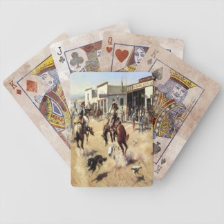 Old West Cowboys Quite Day Game Playing Cards