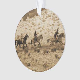 Old West Cowboys Riding
