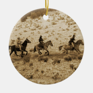 Old West Cowboys Riding Ornaments