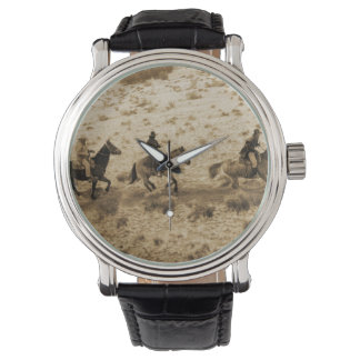 Old West Cowboys Riding Wristwatches