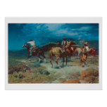 Old West Cowboys Rustlers Art Print Poster