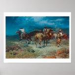Old West Cowboys Rustlers Art Print Poster