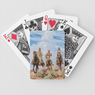 Old West Cowboys Trail Ride Playing Cards