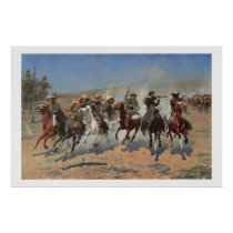 Old West Dash for the Timber Art Print Poster