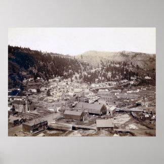 OLD WEST DEADWOOD, SOUTH DAKOTA 1888 POSTER