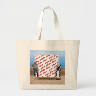 Old West Dogs Photo Frame Canvas Bag