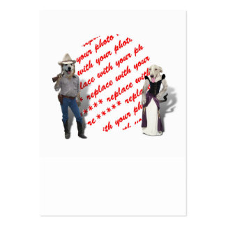 Old West Dogs Photo Frame Large Business Cards (Pack Of 100)