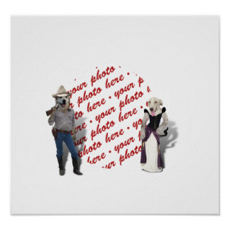 Old West Dogs Photo Frame Posters