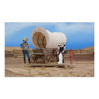 Old West Dogs Poster Print