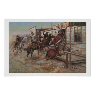 Old West In Without Knocking Art Print Poster
