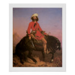 Old West Indian Scout Cowboy Art Print Poster