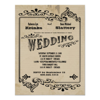 Old West Inspired Customizable Wedding Invite