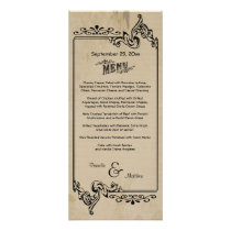Old West Inspired Customizable Wedding Menu Card