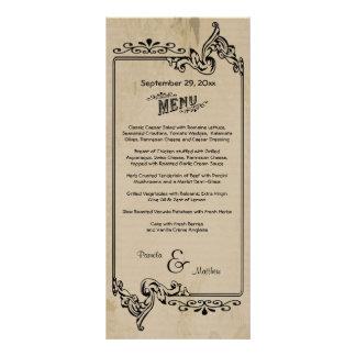 Old West Inspired Customizable Wedding Menu Card