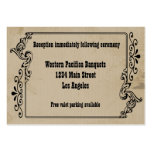 Old West Inspired Reception Card